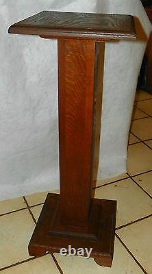 Oak Mission Pedestal Plant Stand (PS200)
