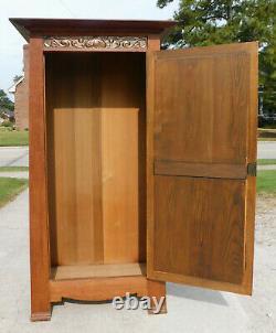 Oak Wardrobe Cabinet Mission Arts and Crafts