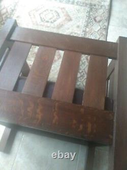 Oversized Stickley Era Mission Oak Even Arm Cube Chair- Pristine Original Finish