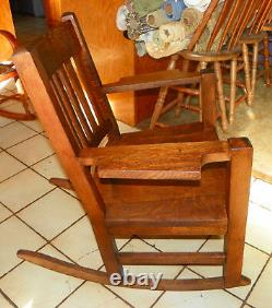 Quartersawn Oak Mission Rocker / Rocking Chair (R244)