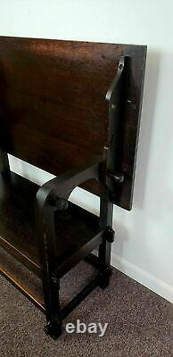 Rare Art's & Crafts Mission Oak Hutch Table Bench Drafting Table