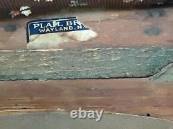 Rare PLAIL BROTHERS antique Arts & Crafts Mission Oak vintage Stickley Era stool