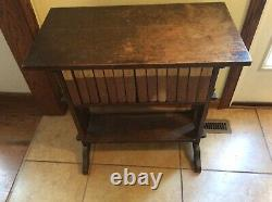 Roycroft Antique Mission Oak Little Journey's Book Stand & Complete 1916 Books