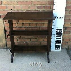 Roycroft Arts Crafts Mission Prairie Little Journeys Bookcase Stand Table Signed
