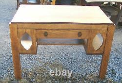 Solid Quartersawn Oak Mission Desk Library Table (DR32)