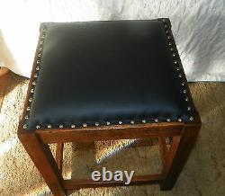 Solid Quartersawn Oak Mission Footstool / Stool / Bench (ST122)
