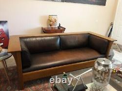 Stickley Arts & Craft/Mission Oak Prairie Sofa, Settle