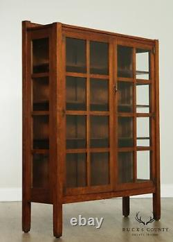 Stickley Brothers Antique Mission Oak 2 Door China Cabinet