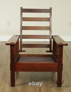 Stickley Brothers Antique Mission Oak Morris Chair