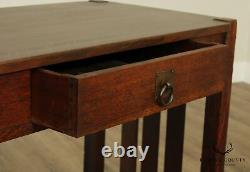 Stickley Brothers Antique Mission Oak One Drawer Console Table