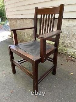 Stickley Brothers Mission Oak Prairie Arm Chair No. 268-1/4