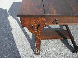 Stickley Brothers Shop of the Crafters Mission Oak Desk #3280 Unusual Style