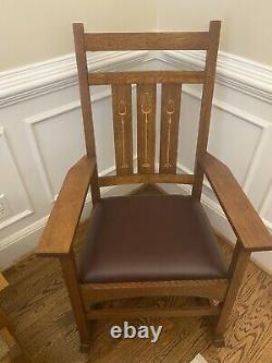 Stickley Harvey Ellis Rocker 89-353 Mission quarter sawn Rocking Chair #32 NICE