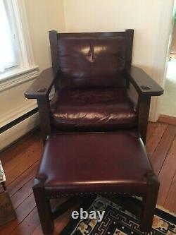 Stickley MIssion Collection Eastwood Armchair & Footstool