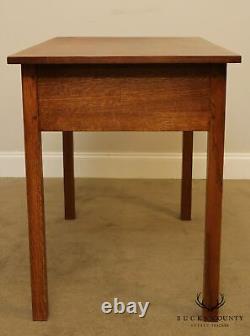 Stickley Mission Collection Oak 2 Drawer Writing Desk