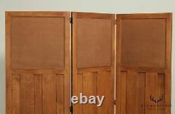 Stickley Mission Collection Oak 3 Panel Screen Room Divider
