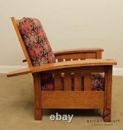 Stickley Mission Collection Oak Bow Arm Morris Chair