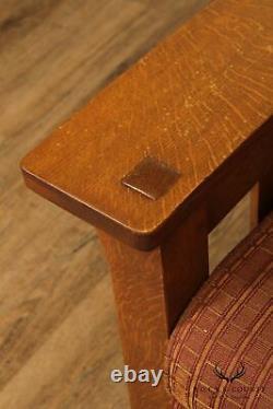 Stickley Mission Collection Oak Bow Arm Morris Recliner