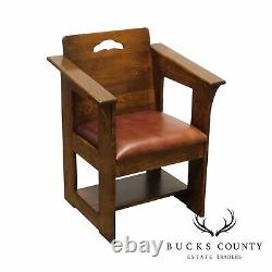 Stickley Mission Collection Oak Limbert Cafe Armchair