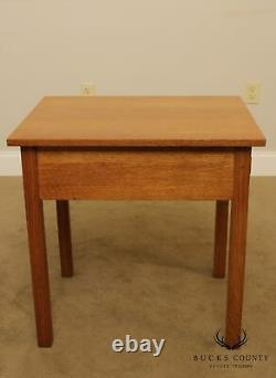 Stickley Mission Collection Oak One Drawer Side Table