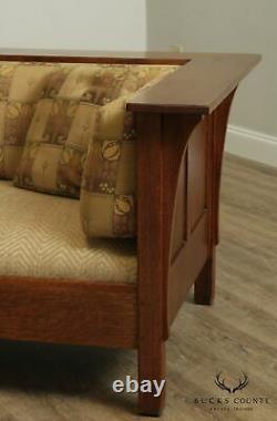 Stickley Mission Collection Oak Prairie Settle, Sofa
