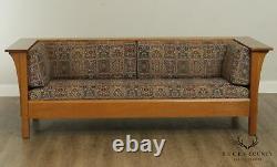 Stickley Mission Collection Oak Prairie Sofa, Settle