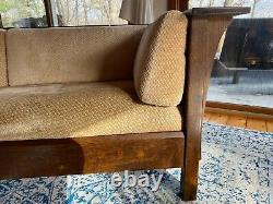 Stickley Mission Collection Oak Prairie Sofa Settle