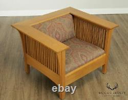 Stickley Mission Collection Oak Prairie Spindle Chair