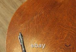 Stickley Mission Collection Oak Round Top Bistro Table (B)