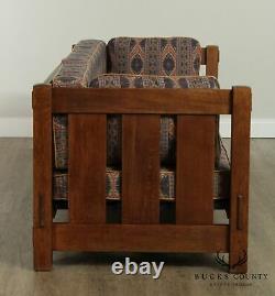 Stickley Mission Collection Oak Settle, Sofa