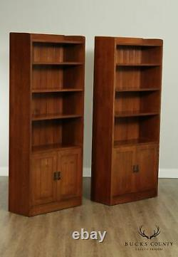 Stickley Mission Collection Pair Oak Bookcases