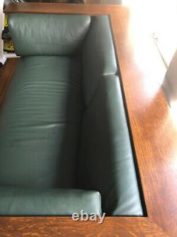 Stickley Mission Oak Prairie- green leather