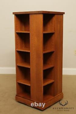 Stickley Mission Oak Revolving Bookcase display
