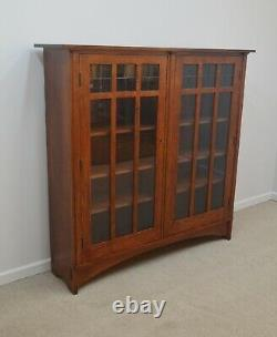 Stickley Oak Mission Two Door Bookcase
