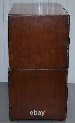 Stunning Antique Military Campaign Used Chest Drawers Original Period Piece Rare