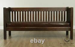 The Harden Line Antique Mission Oak Settle, Sofa