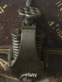 Vintage Antique Mission Oak Wood Banker Office Rolling Arm Chair Gunlocke STYLE