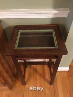 Vintage Cushman Telephone Table Stand Betumal 1910 Mission Oak Arts & Crafts