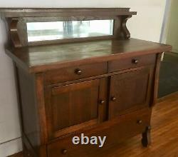 Vintage Mission, Arts Crafts Oak Cabinet Console
