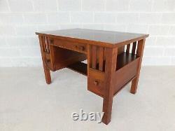 Vintage Mission Oak Art & Crafts Style Desk